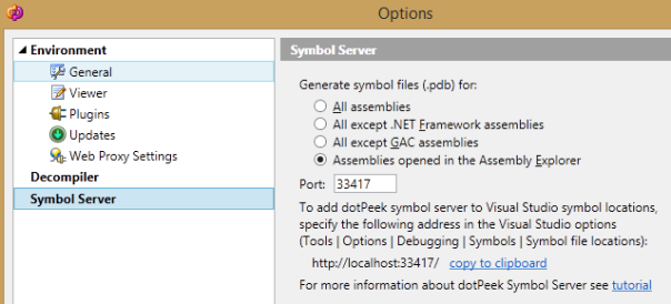 dotpeek-symbol-server